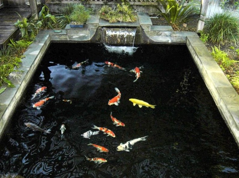 Awesome Small Waterfall Pond Landscaping Ideas Backyard32