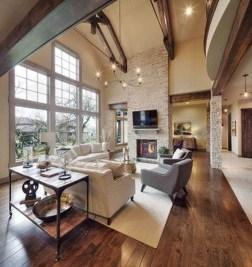 Inspiring Rustic Wooden Floor Living Room Design01