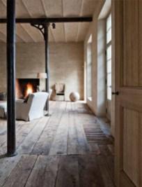 Inspiring Rustic Wooden Floor Living Room Design04