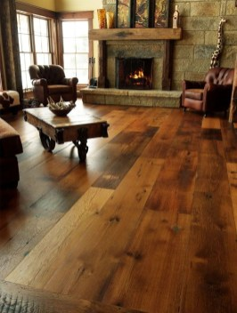 Inspiring Rustic Wooden Floor Living Room Design07