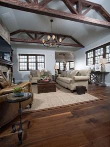 Inspiring Rustic Wooden Floor Living Room Design11