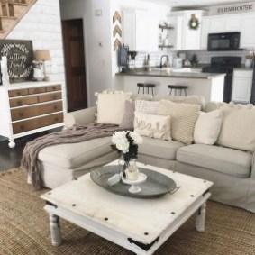 Inspiring Rustic Wooden Floor Living Room Design22