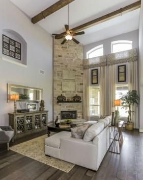 Inspiring Rustic Wooden Floor Living Room Design32