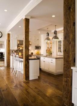 Inspiring Rustic Wooden Floor Living Room Design33