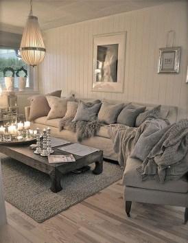 Inspiring Rustic Wooden Floor Living Room Design43