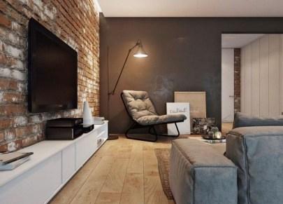 Ispiring Rustic Elegant Exposed Brick Wall Ideas Living Room04