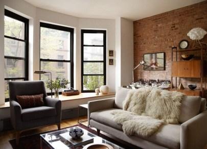 Ispiring Rustic Elegant Exposed Brick Wall Ideas Living Room06