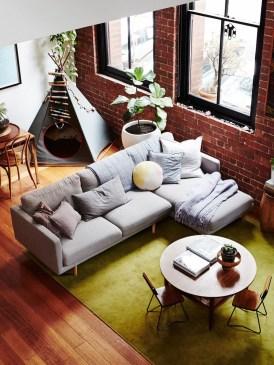 Ispiring Rustic Elegant Exposed Brick Wall Ideas Living Room13
