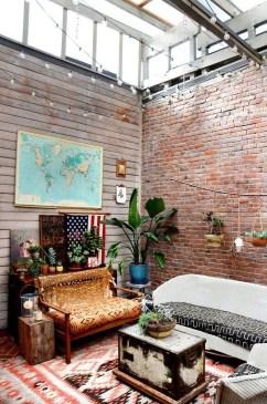 Ispiring Rustic Elegant Exposed Brick Wall Ideas Living Room16