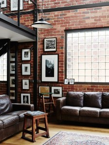 Ispiring Rustic Elegant Exposed Brick Wall Ideas Living Room17