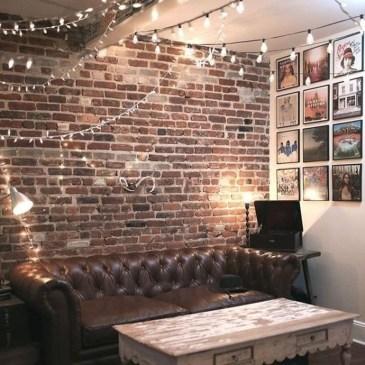 Ispiring Rustic Elegant Exposed Brick Wall Ideas Living Room33