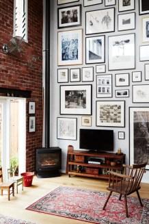 Ispiring Rustic Elegant Exposed Brick Wall Ideas Living Room37