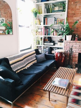 Ispiring Rustic Elegant Exposed Brick Wall Ideas Living Room40