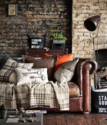 Ispiring Rustic Elegant Exposed Brick Wall Ideas Living Room41