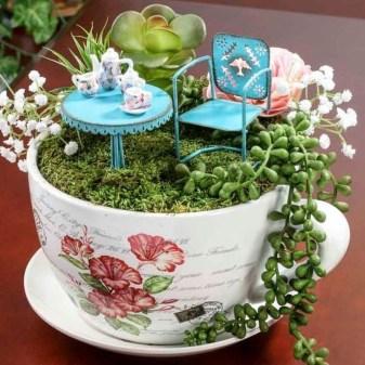 Stunning Fairy Garden Miniatures Project Ideas08