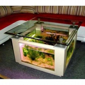 Amazing Aquarium Feature Coffee Table Design Ideas25