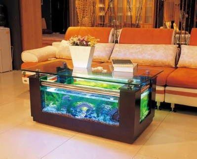 Amazing Aquarium Feature Coffee Table Design Ideas33
