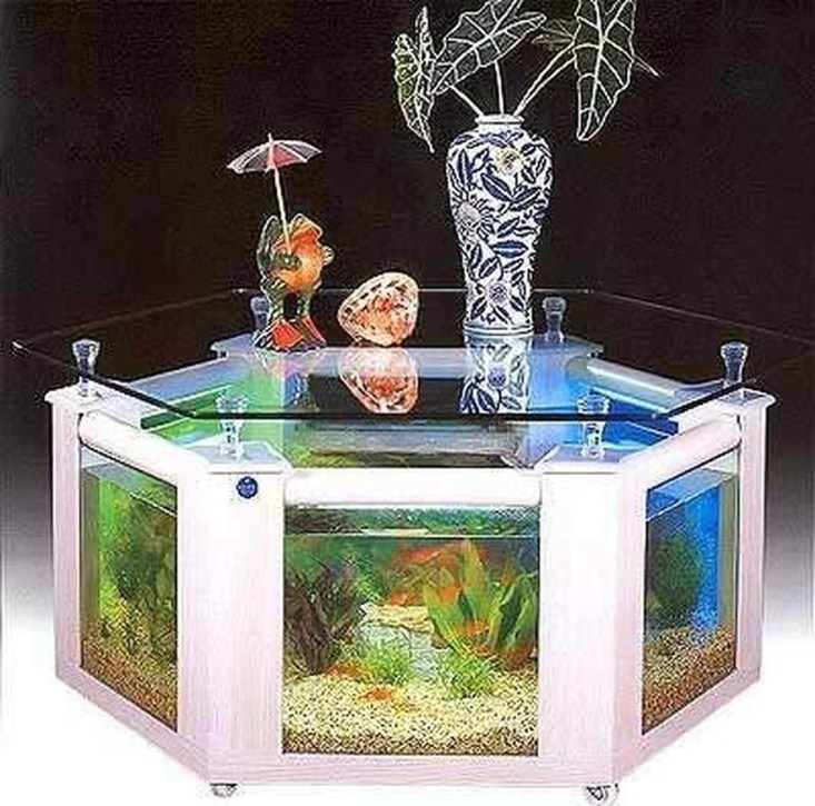 Amazing Aquarium Feature Coffee Table Design Ideas35