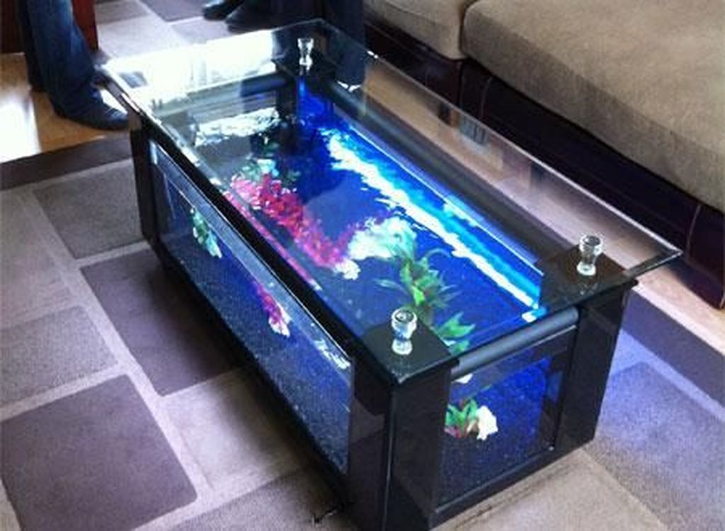 Amazing Aquarium Feature Coffee Table Design Ideas36