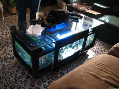 Amazing Aquarium Feature Coffee Table Design Ideas40