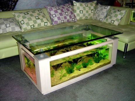 Amazing Aquarium Feature Coffee Table Design Ideas42