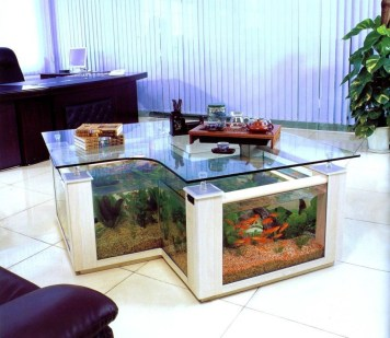 Amazing Aquarium Feature Coffee Table Design Ideas44