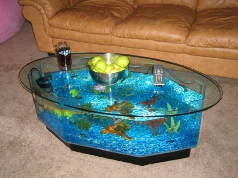 Amazing Aquarium Feature Coffee Table Design Ideas46