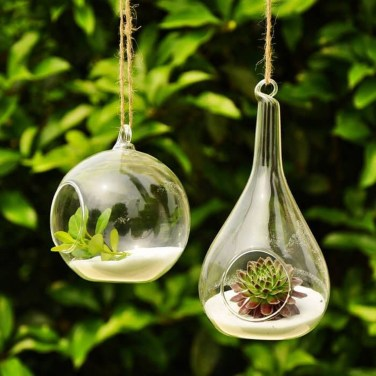 Awesome Ideas To Make Glass Jars Garden For Your Home Decor34