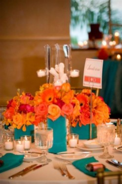 Awesome Teal Color Scheme For Fall Decor Ideas08