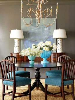 Awesome Teal Color Scheme For Fall Decor Ideas18