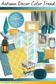 Awesome Teal Color Scheme For Fall Decor Ideas29