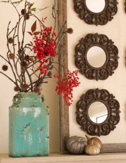Awesome Teal Color Scheme For Fall Decor Ideas40