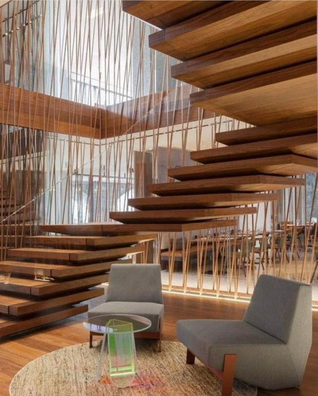 Inspiring Modern Staircase Design Ideas37