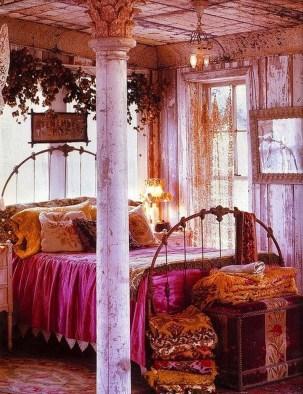 Inspiring Vintage Bohemian Bedroom Decorations06