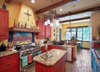 Lovely Rustic Western Style Kitchen Decorations Ideas 05