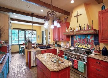 Lovely Rustic Western Style Kitchen Decorations Ideas 36