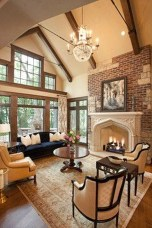Rustic Brick Fireplace Living Rooms Decorations Ideas06