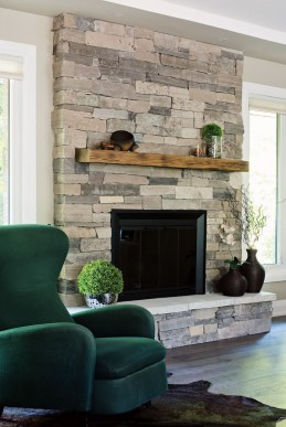 Rustic Brick Fireplace Living Rooms Decorations Ideas18
