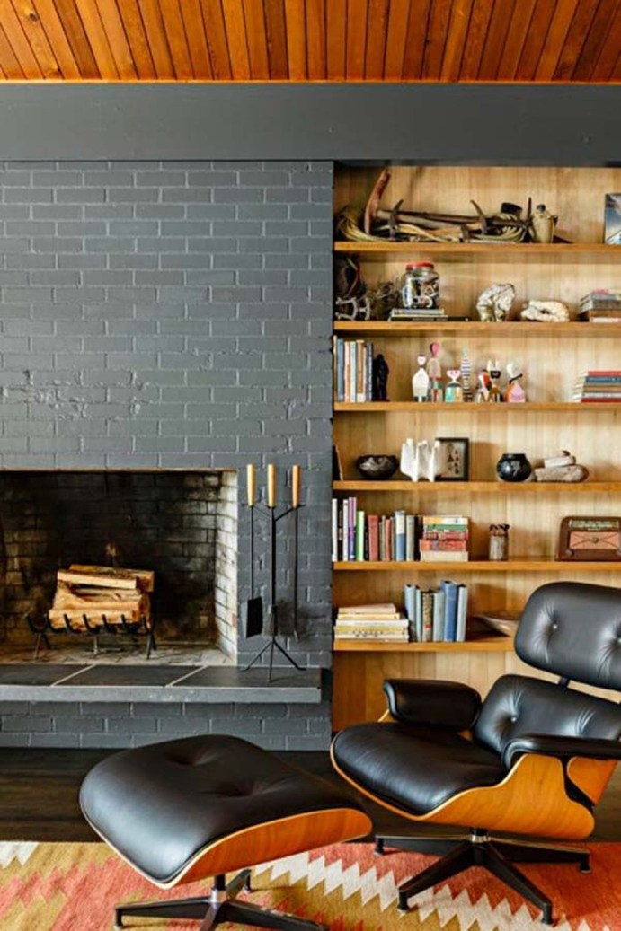 Rustic Brick Fireplace Living Rooms Decorations Ideas26