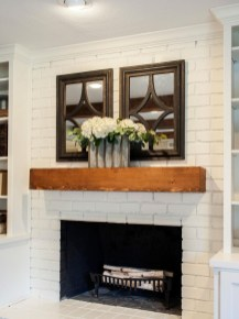 Rustic Brick Fireplace Living Rooms Decorations Ideas34