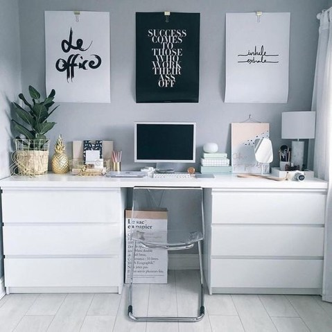 Simple Desk Workspace Design Ideas 08