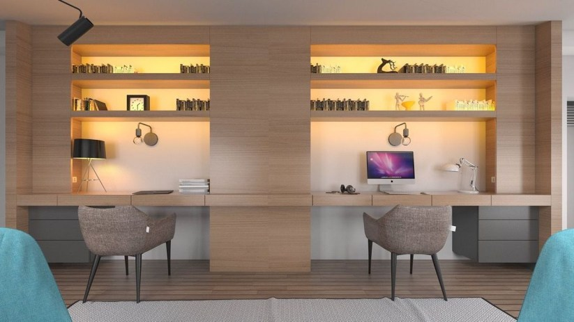 Simple Desk Workspace Design Ideas 12