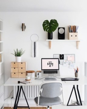 Simple Desk Workspace Design Ideas 19