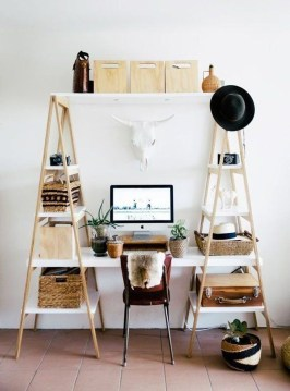 Simple Desk Workspace Design Ideas 20