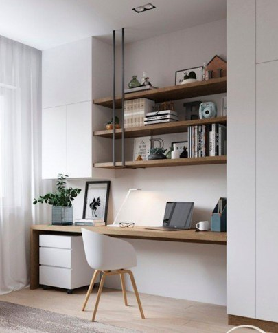 Simple Desk Workspace Design Ideas 30