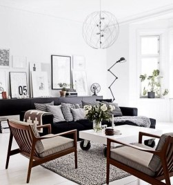 Wonderful Scandinavian Livingroom Decorations Ideas26