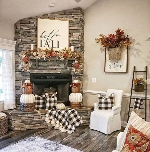 Attractive Diy Halloween Living Room Decoration Ideas09