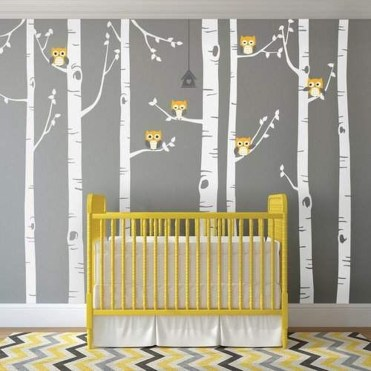 Charming Wall Sticker Babys Room Ideas17