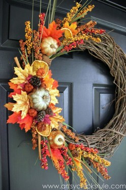 Cheap Iy Fall Wreaths Ideas29