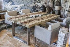 Creative Wooden Dining Tables Design Ideas24